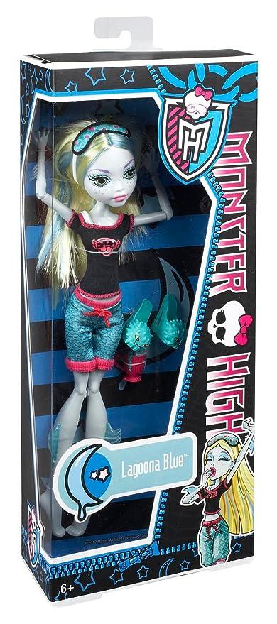 Amazon.es: Mattel BBR76 Monster High - Muñeca Lagoona Blue en pijama, diseño muerta de sueño: Juguetes y juegos