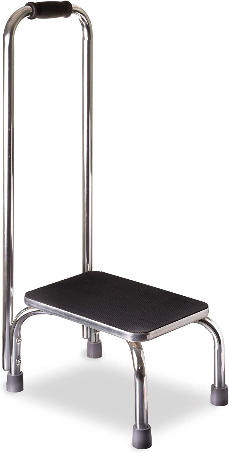 DMI Step Stool with Handle for Adults and Seniors Made of Heavy Duty Metal, Holds up to 300 Pounds with 9.5 Inch Step Up: Health & Personal Care