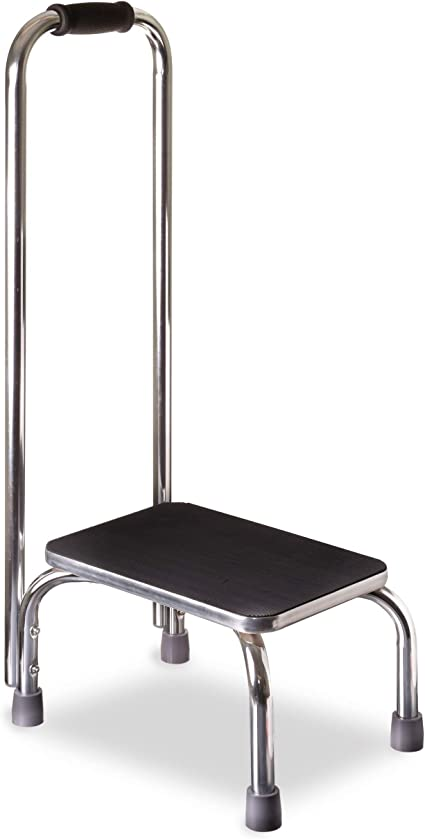 Amazon Com Dmi Step Stool With Handle For Adults And Seniors Made Of Heavy Duty Metal Holds Up To 300 Pounds With 9 5 Inch Step Up Health Personal Care