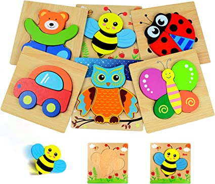 Toddler Puzzles Educational Preschool Toys Gifts for Colors /& Shapes Cognition Skill Learning Puzzles for 2 Year Old Animals /& Vehicle Puzzles for 1 2 3 Year Old Girls Boys Toddlers