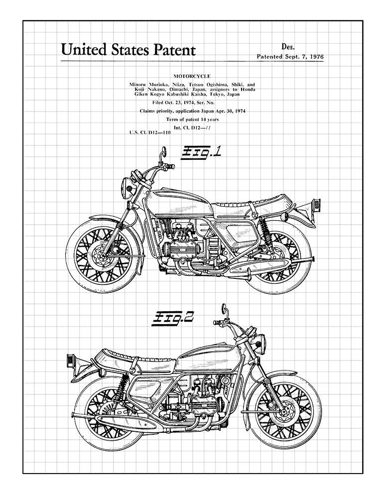 Amazon Com Frame A Patent Motorcycle
