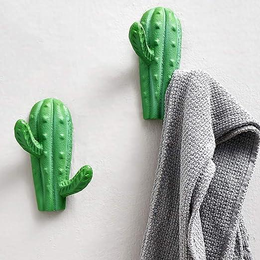 SUPVOX Cactus di Ferro Gancio a Parete Appendiabiti in Ferro Ornamento Cappello Appendiabiti Decorazione da Parete per Hotel Camera da Letto Dorato