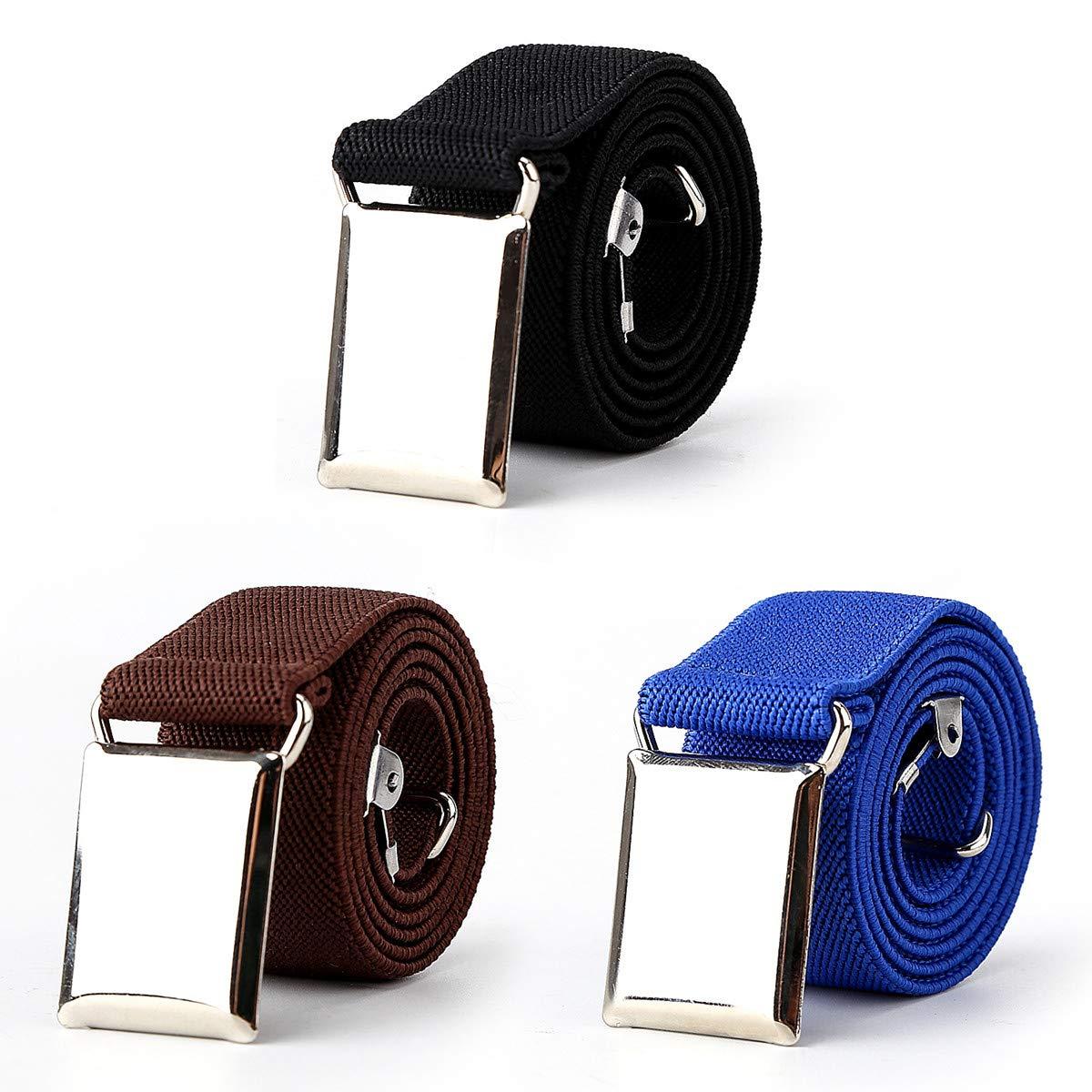 Kids Boys Toddler Elastic Belts, 3pcs Adjustable Stretch Child Buckle Belt by Unfad