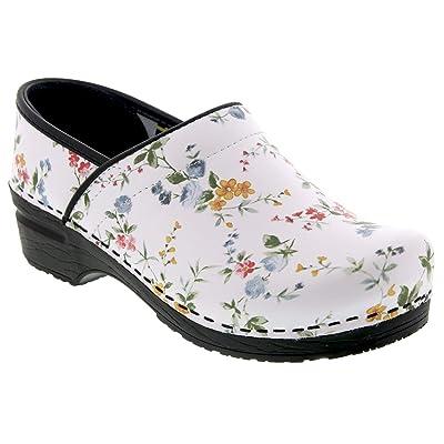 Amazon.com | Bjork Professional Linnea Flower Leather Clogs | Mules & Clogs