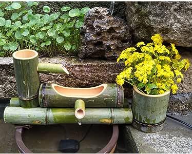 zenggp Fuente De Bambú Decoración Japonesa del Jardín Característica De La Cascada De Feng Shui,Length55cm: Amazon.es: Hogar