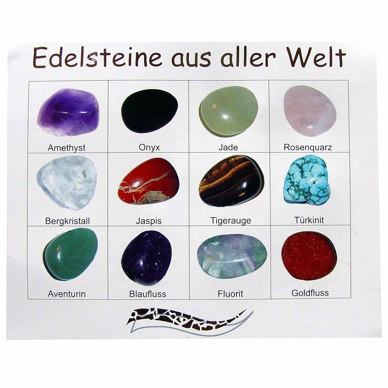 12 Stück Edelsteine Trommelsteine Ca 20 X 15 Mm Steinarten Einzeln
