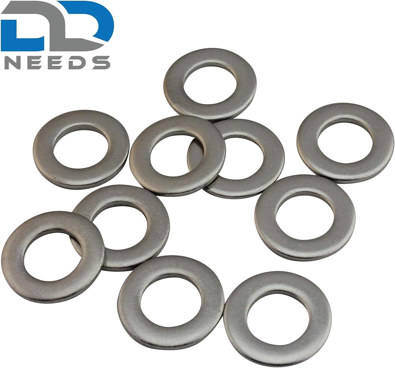 DIN 125 en acier inoxydable A2 V2A rondelles forme A rondelles rondes D2D taille: M8 Unit/é demballage: 10 pi/èces