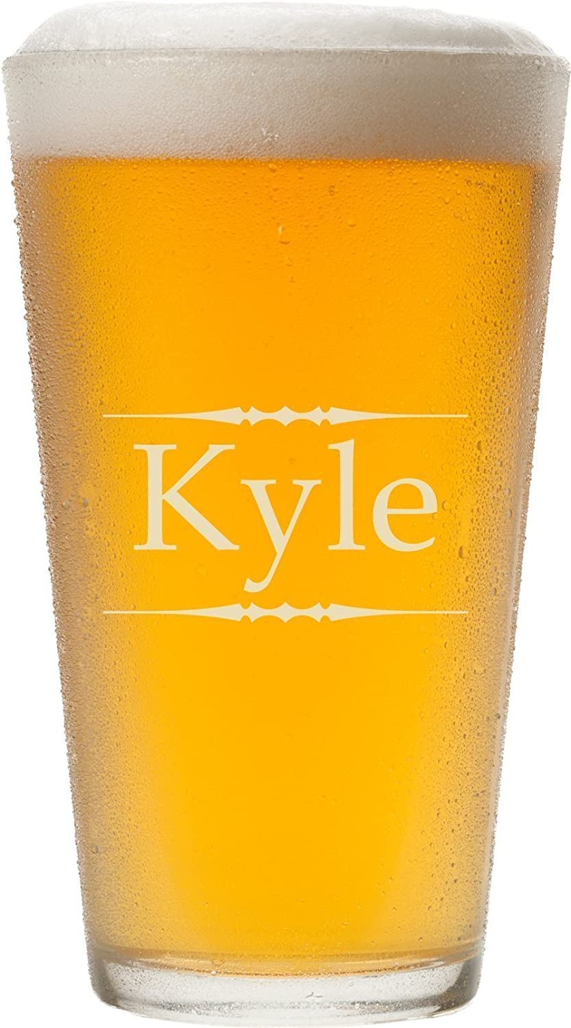 Personalized Pint Glass with Laser Engraving, 16 oz - PG04