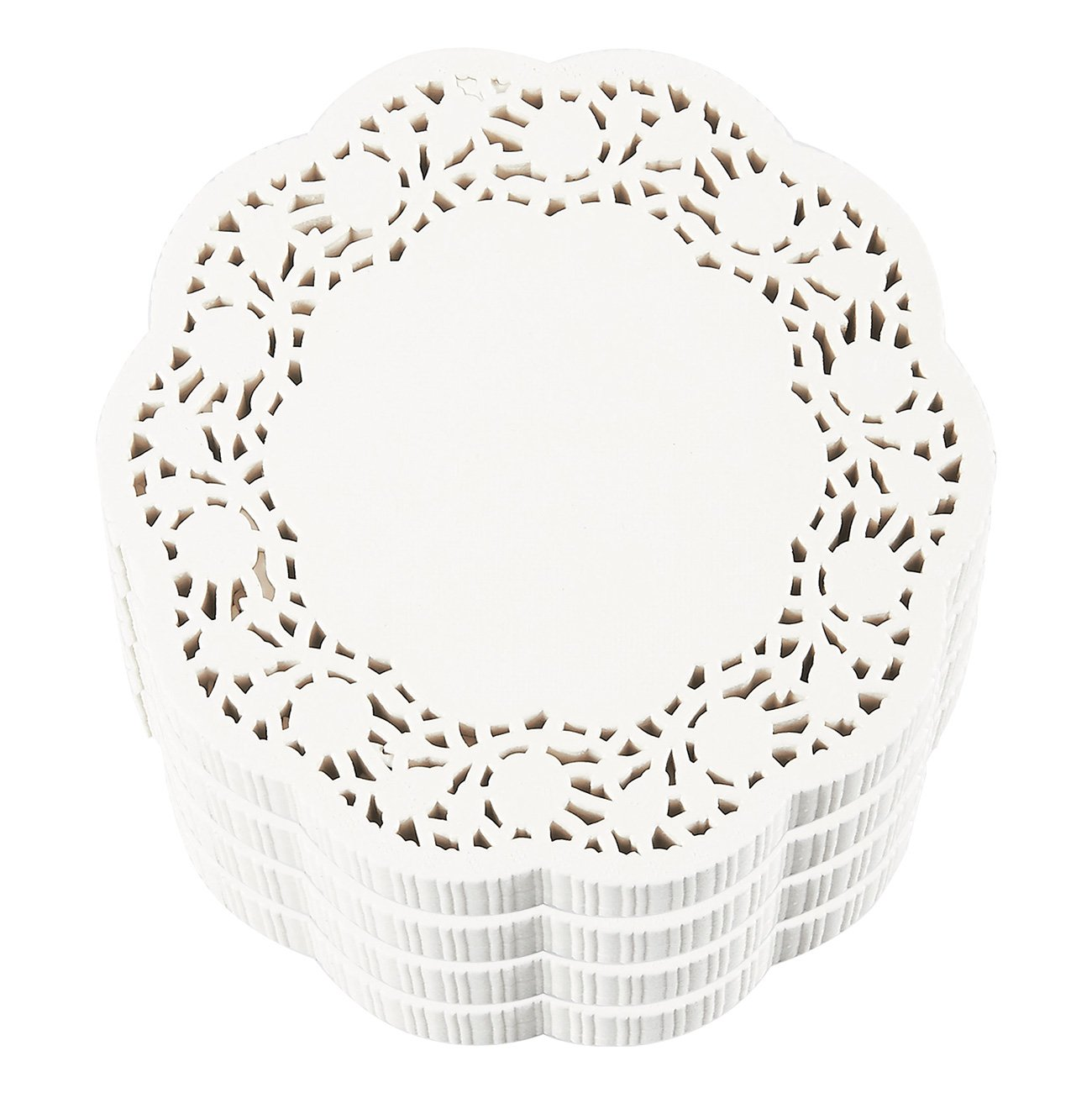 Paper Doilies – 1000-Pack Round Lace Placemats for Cakes, Desserts, Baked Treat Display, Ideal for Weddings, Formal Event Decoration, Tableware Decor, White - 5 Inches in Diameter