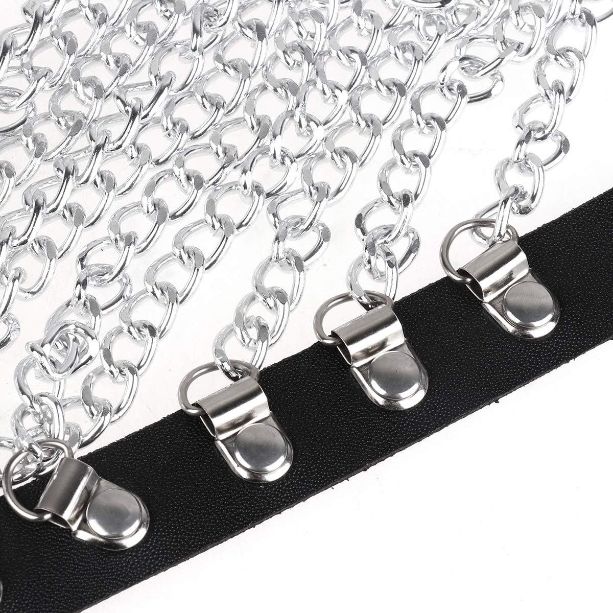 Details about  /Mini Size Lozenge Punk Metal Chain Bags for Women Metal Button Fashionable