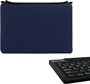 Smart Sleeve 10in for Dell Venue 10 Pro, Blue and Wireless Keyboard