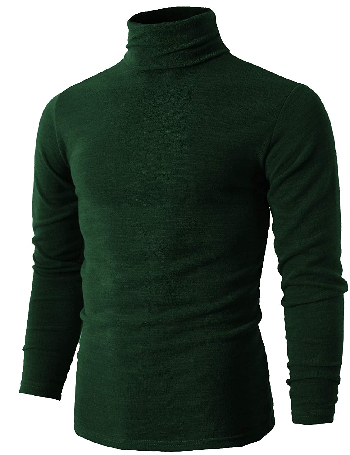 H2H Mens Casual Slim passen Pullover Sweaters Knitted Turtleneck Thermal Basic Designed