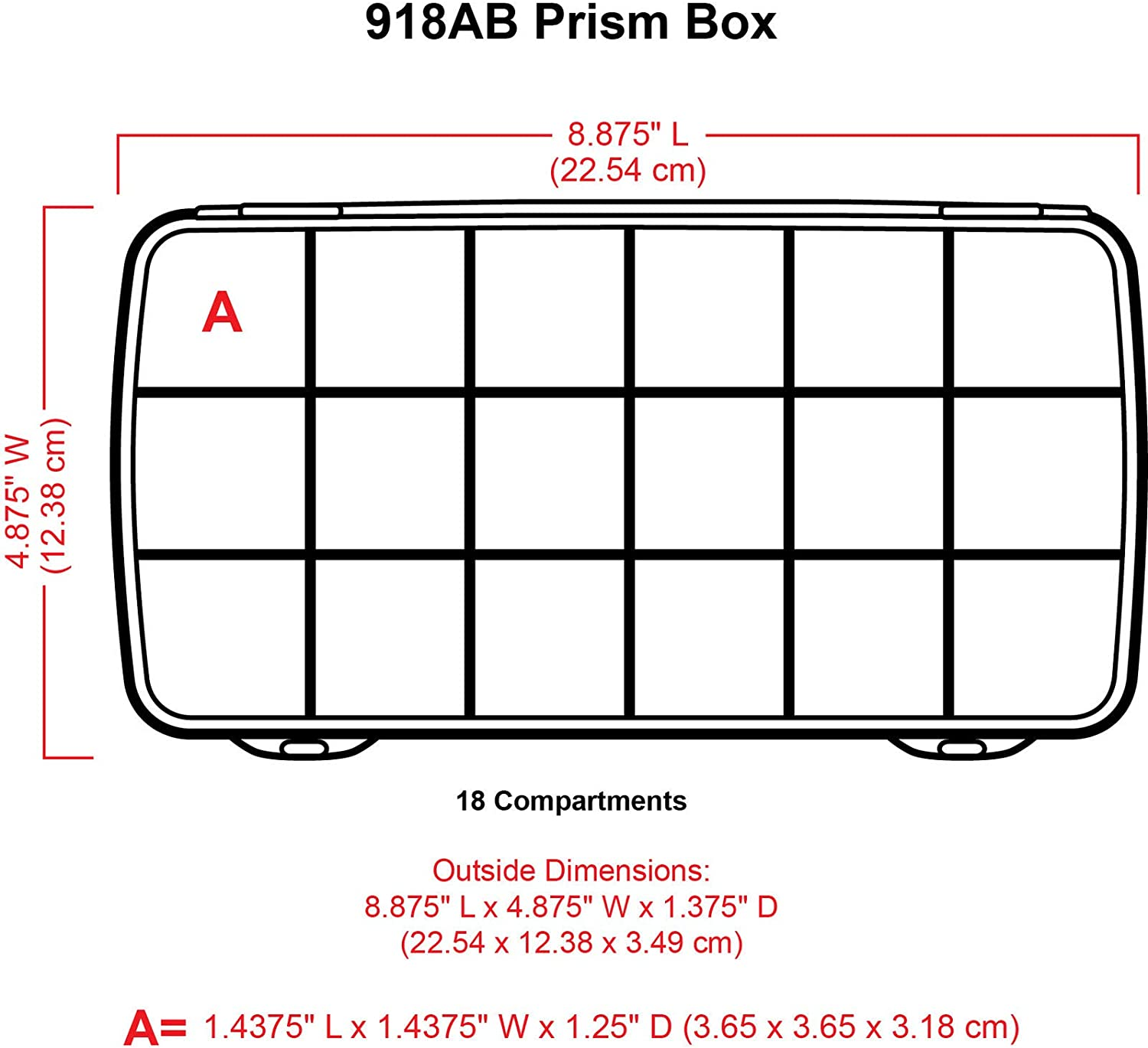 ArtBin  1-Compartment Prism Box Clear Art// Craft Storage Container 1100AB