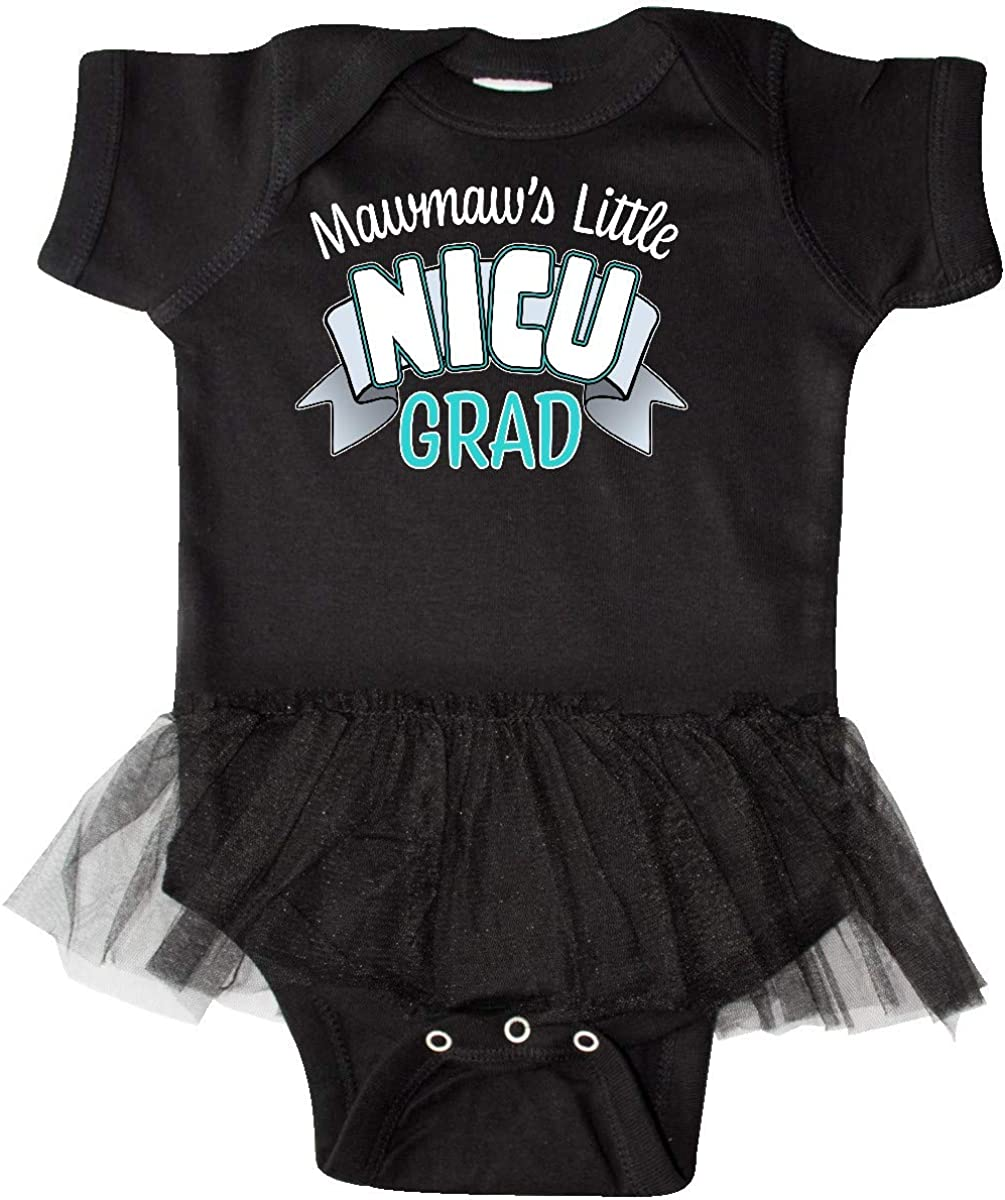 inktastic Mawmaws Little Nicu Grad in Blue with Banner Infant Tutu Bodysuit