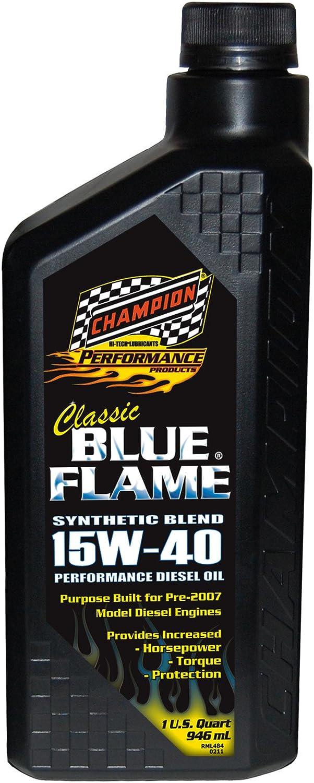 Champion Brands 4359H-EACH 'Classic Blue Flame' 15W-40 Diesel Motor Oil - 1 Quart Bottle