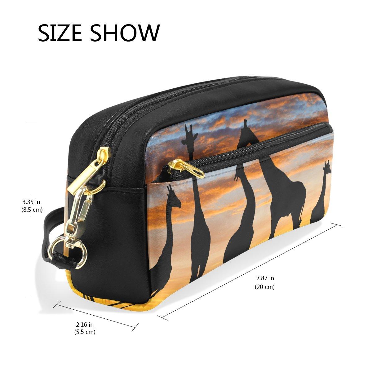 Deyya African Animal Giraffe Sunset School Pencil Bag Accessories Vpd 3 For Children Kids Large Capacity Pen Holder Durable Stationery Pouch Office