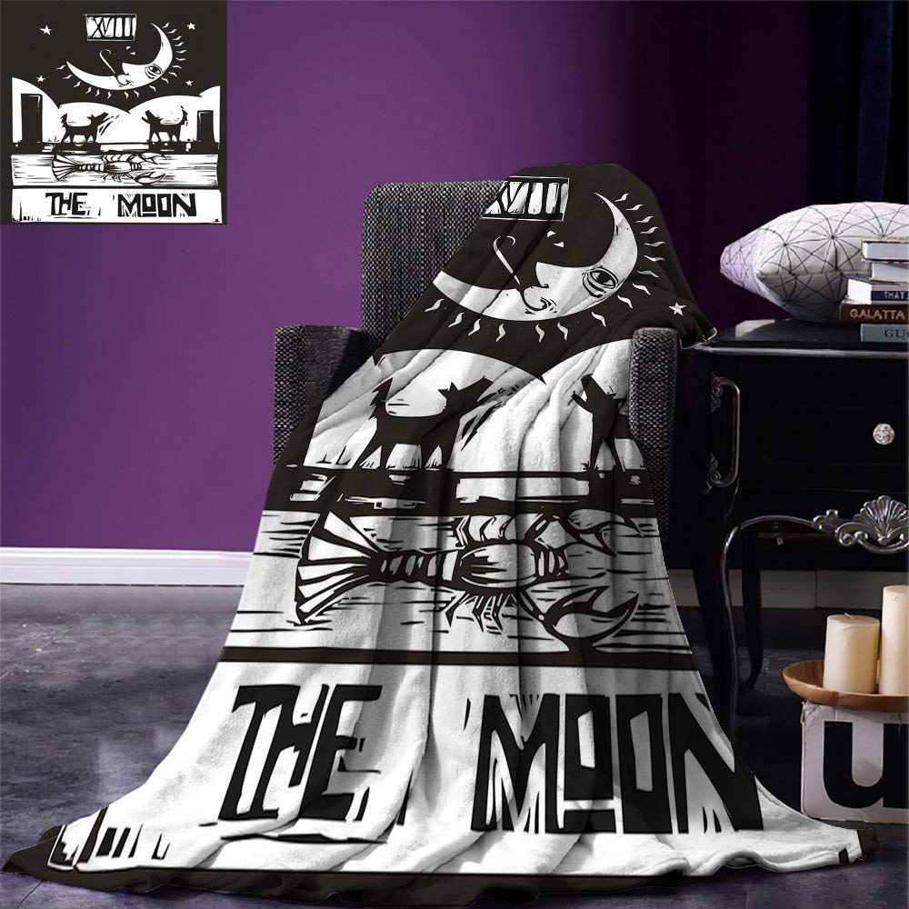 color04 60 x50  VAMIX Moon Warm Microfiber All Season Blanket Cartoon Owls Playing on The Moon Stars in The Background colorful Drawing Style Print Print Artwork Image£¬Multicolor, Multicolor, Blanket