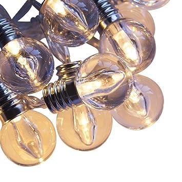 Mini guirnalda Féerique 16 bombillas LED blanco cálido Funcionamiento a pilas con temporizador: Amazon.es: Hogar