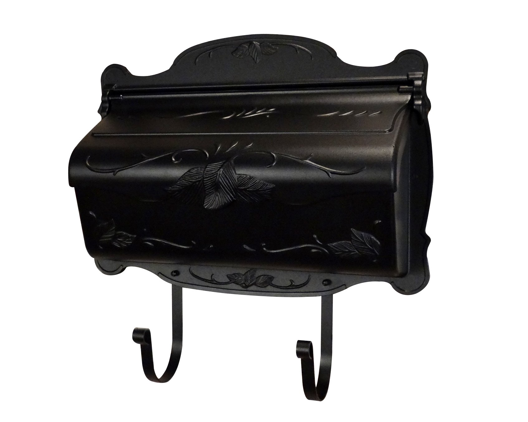 Special Lite Products SHF-1001-BLK Floral Horizontal Mailbox, Black