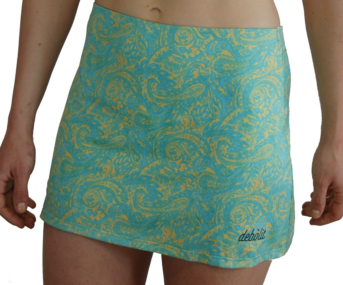 DEBOLIT - Falda Cachemire Turquesa. Faldas de Padel/Tenis con ...