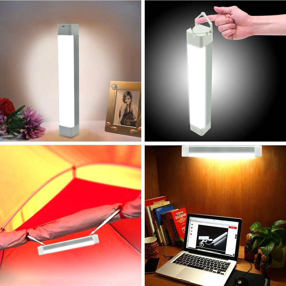 XINBAOHONG Portable LED Camping Light Stick, Emergency Magnetic Work Lamp Lantern, Rechargeable Handy Light for Home Lighting, Outdoor Night Fishing, Hiking,Biking(Green) by XINBAOHONG (Image #7)
