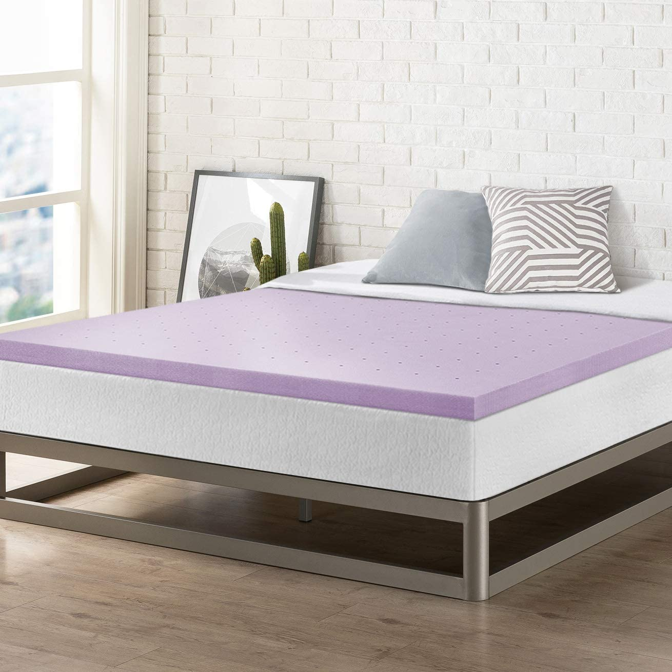 Best Price Mattress Topper Full, 2 Memory Foam Mattress Topper with Lavender Certipur-US Certified Cooling, Full Size