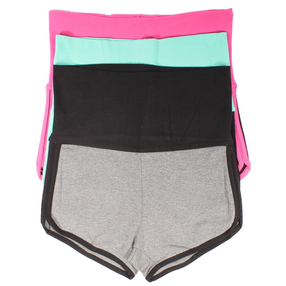 Mopas 3 Pack Yoga Two Tone Dolphin Shorts