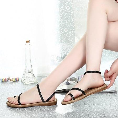 Summer Weave Sandals - Women Home Outdoor Sandals - Beach Flat Shoes