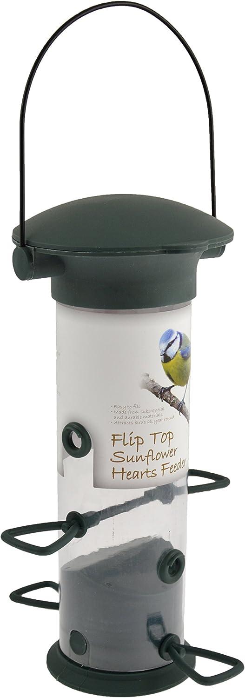 Green Jem Fat Ball Flip Top Bird Feeder 14x14x38 cm