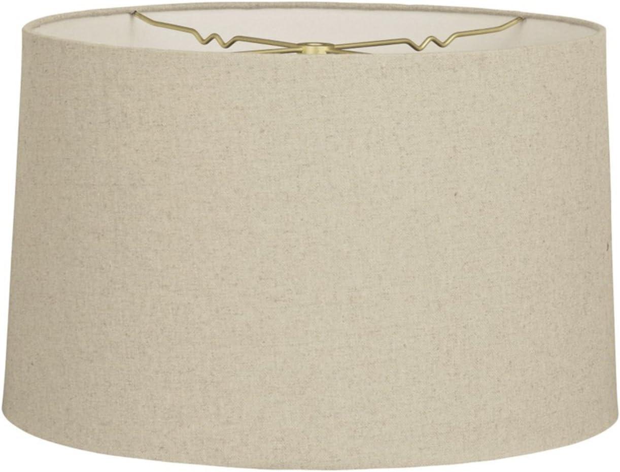 Royal Designs Shallow Drum Hardback Lamp Shade, Linen Cream, 15 x 16 x 10