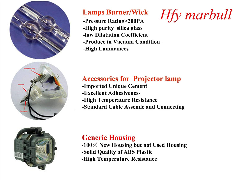 IN3194 HFY marbull SP-LAMP-058 Projektorlampe mit Geh/äuse f/ür INFOCUS IN3114 IN3196 Projektor IN3116