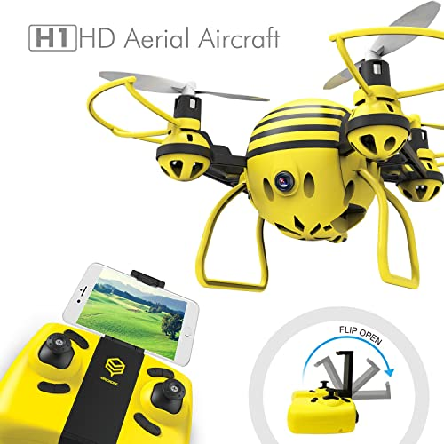 HASAKEE H1 FPV RC Drone with HD Live Video Wifi Camera and Headless Mode 2.4GHz 6-Axis Gyro Quadcopter with Altitude Hold and One-Button Take off/Landing,Good for Beginners