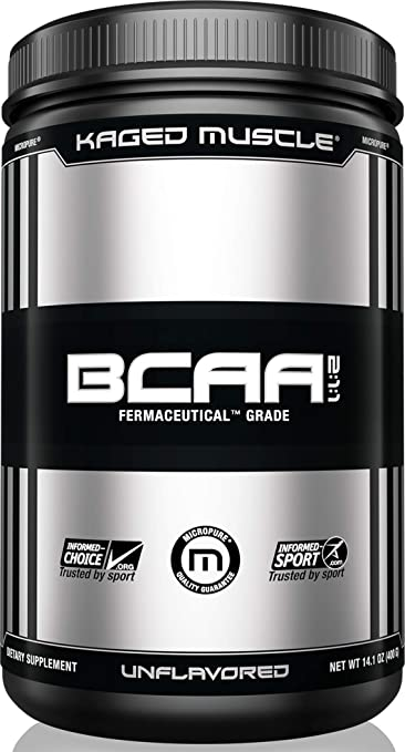 KAGED MUSCLE, Fermented BCAA Powder, Plant Based, Non-GMO, Supports Protein Synthesis, Vegan Friendly Branched Chain Amino Acids, Aminos, BCAAs, Unflavored, 72 Servings best BCAA powder