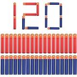 POKONBOY Mega Dart Refill Pack ( 120 PCS ) for N-Strike Mega Series 2 Color Red & Blue Mega Dart Compatible with Nerf Gun