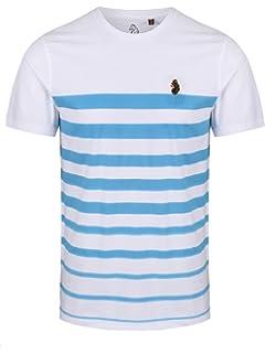 82a07426 LUKE 1977 Mens Option 1 Striped Through Short Sleeve Crew Neck T-Shirt Top