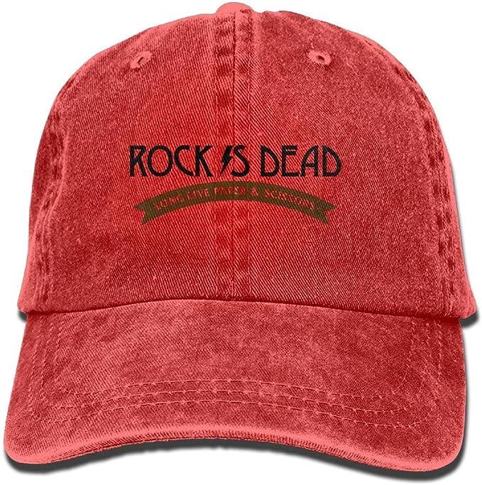 GiveUCap Unisex Gorras De Béisbol De Mezclilla Rock is Dead ...