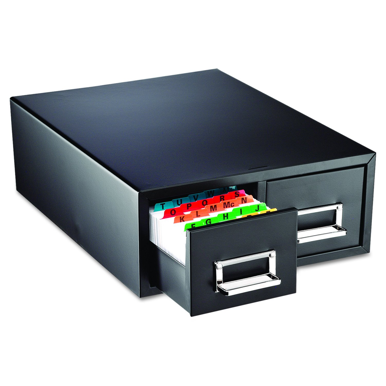 SteelMaster 263F3516DBLA Drawer Card Cabinet Holds 3,000 3 x 5 cards, 12 5/16'' x 16'' x 5 3/16''
