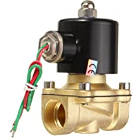 Generic AZH-UK-98552-2W-200-20 Ac220V 3/4 Inch Brass Electric Solenoid Valve Water Air Fuels
