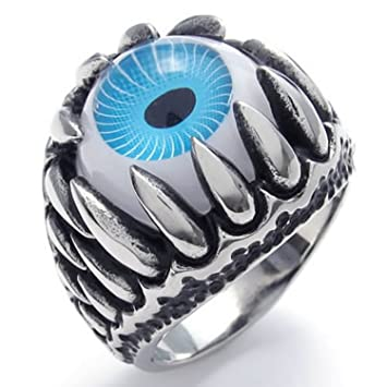 Stainless Steel Evil Eye Ring Men Jewelry Ring 9 Amazon