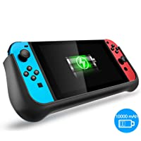 Nintendo Switch Battery Charger Case 10000mAh, Extended Power Bank Battery Backup Pack Charging Case with Adjustable Kickstand for Nintendo Switch
