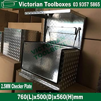 760*500*560mm Aluminium Tool Boxes Generator Tool Box Camper Caravan