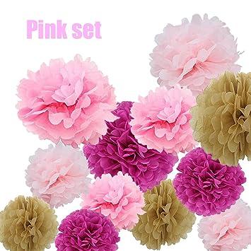 Amazon party tissue pom poms 16 tissue paper flower balls 8 party tissue pom poms 16 tissue paper flower balls 8 10 14 mightylinksfo