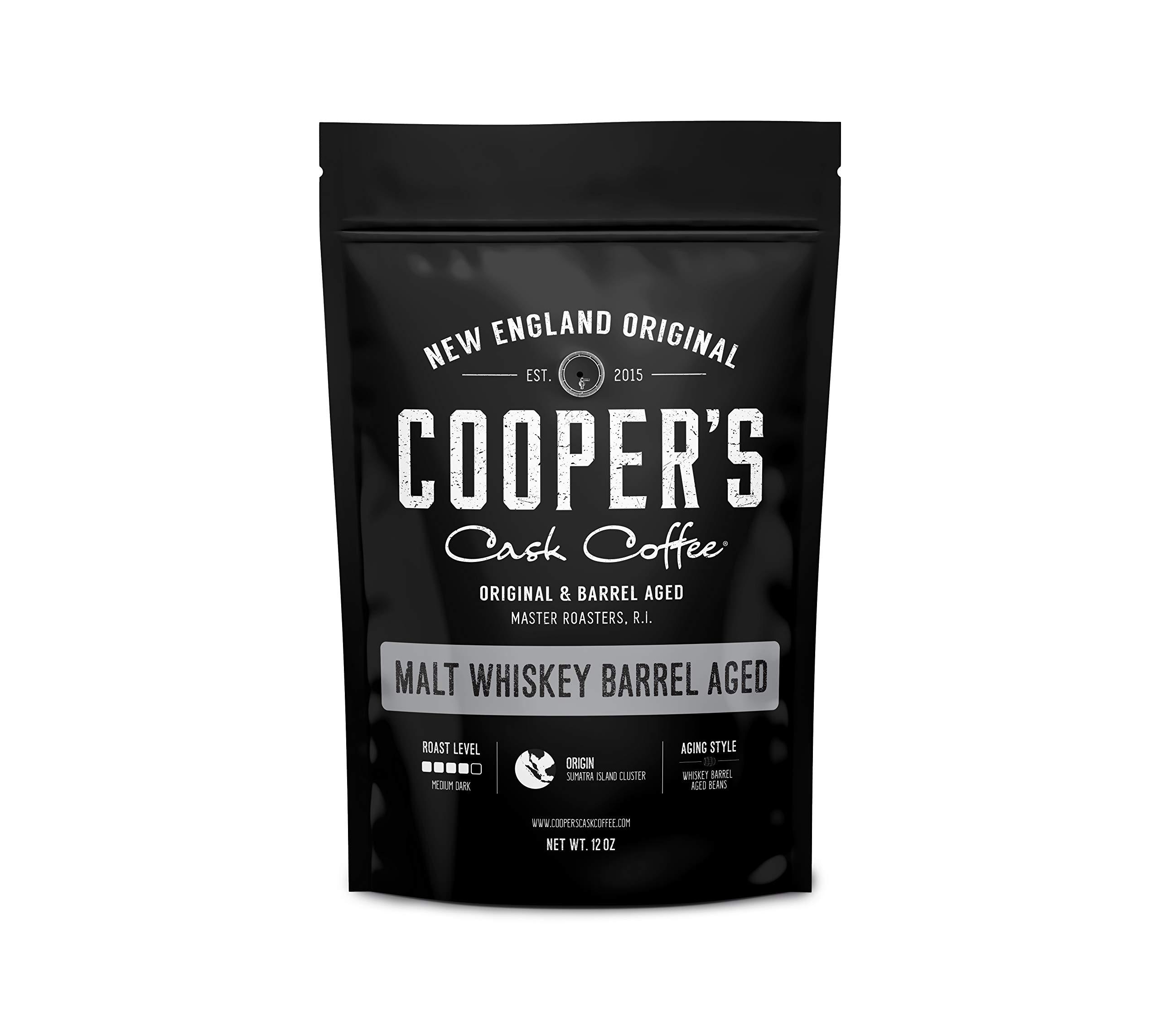 Single-Malt Whiskey Barrel Aged Coffee - Single Origin Sumatra Coffee Beans Aged in Stout Whiskey Barrels - UPRISING- 12 oz Bags, Whole Coffee Bean