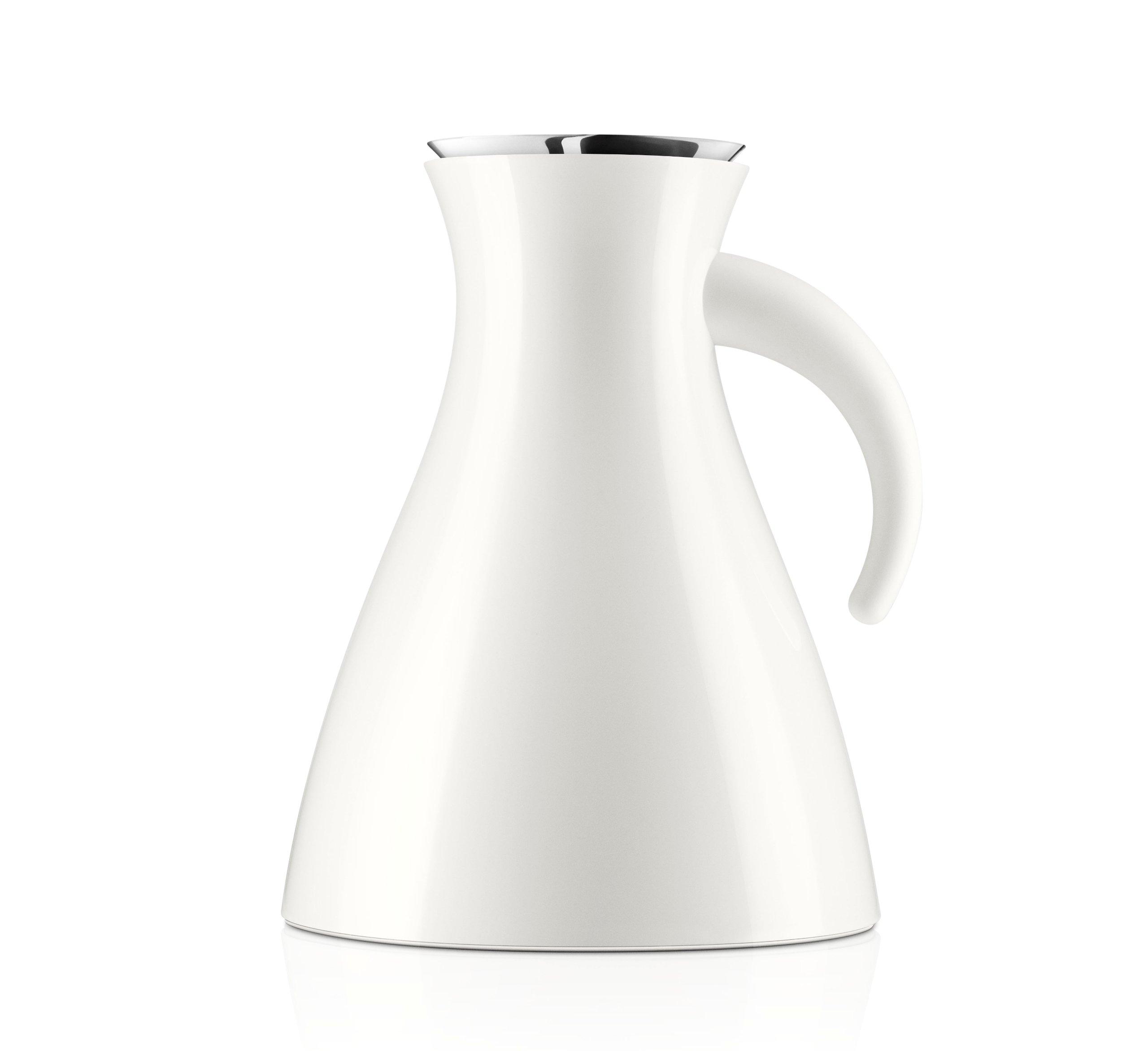 Eva Solo Wide Base Vacuum Jug, 1-Liter, White