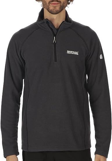 Regatta Men/'s Kenger Half Zip Mid Weight Honeycomb Fleece Grey Ash