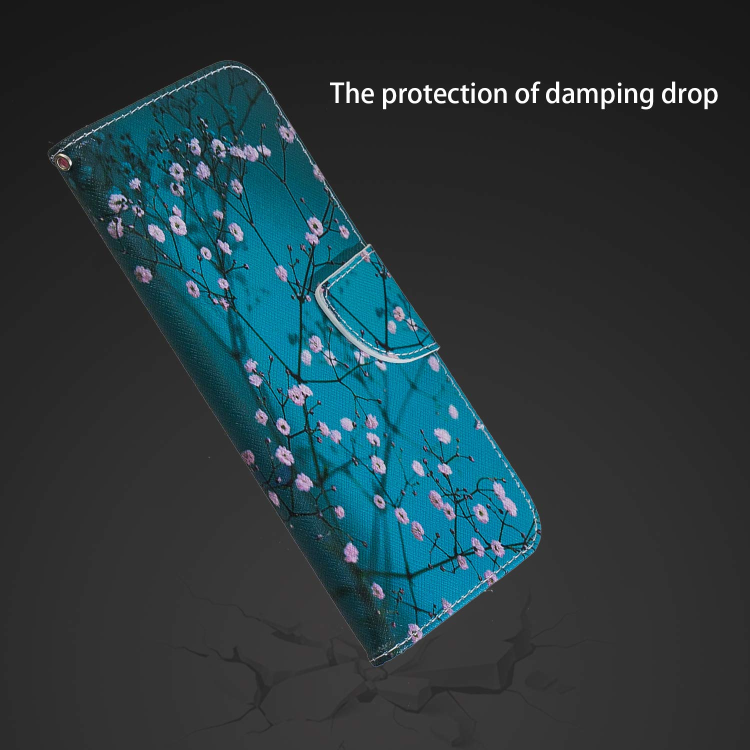 Thoankj Samsung Galaxy A70 Phone Case Flip Shockproof PU Leather Wallet Cover with Stand Magnetic Card Slots Holder TPU Gel Bumper Folio Slim Fit Protective Case for Samsung Galaxy A70 Kapok
