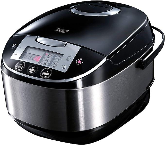 Russell Hobbs Cook@Home - Robot de cocina con función panificadora (900 W, 11 Programas, Acero Inoxidable, 5 l, Digital, Negro) - ref. 21850-56: Amazon.es: Hogar