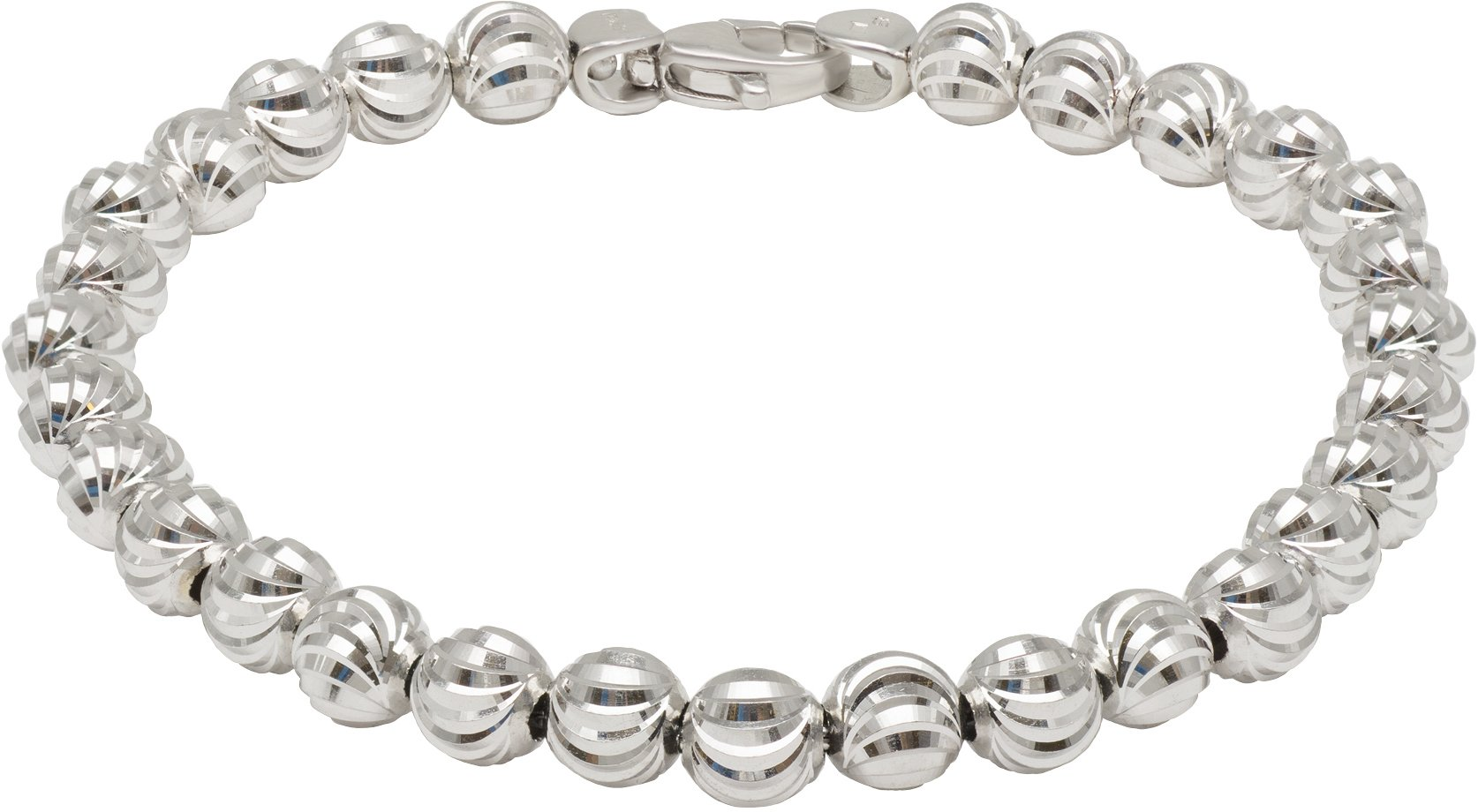 Officina Bernardi - Moon Collection - Bracelet 68B6 - Italian 925 Sterling Silver (7.5 Inches)