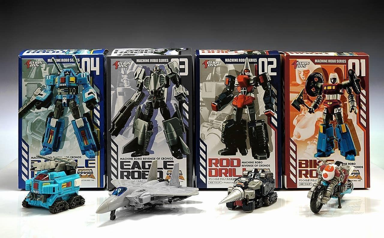 Action Toys Machine Robo Revenge Of Cronos 10 Stream Robo Gobots Figure
