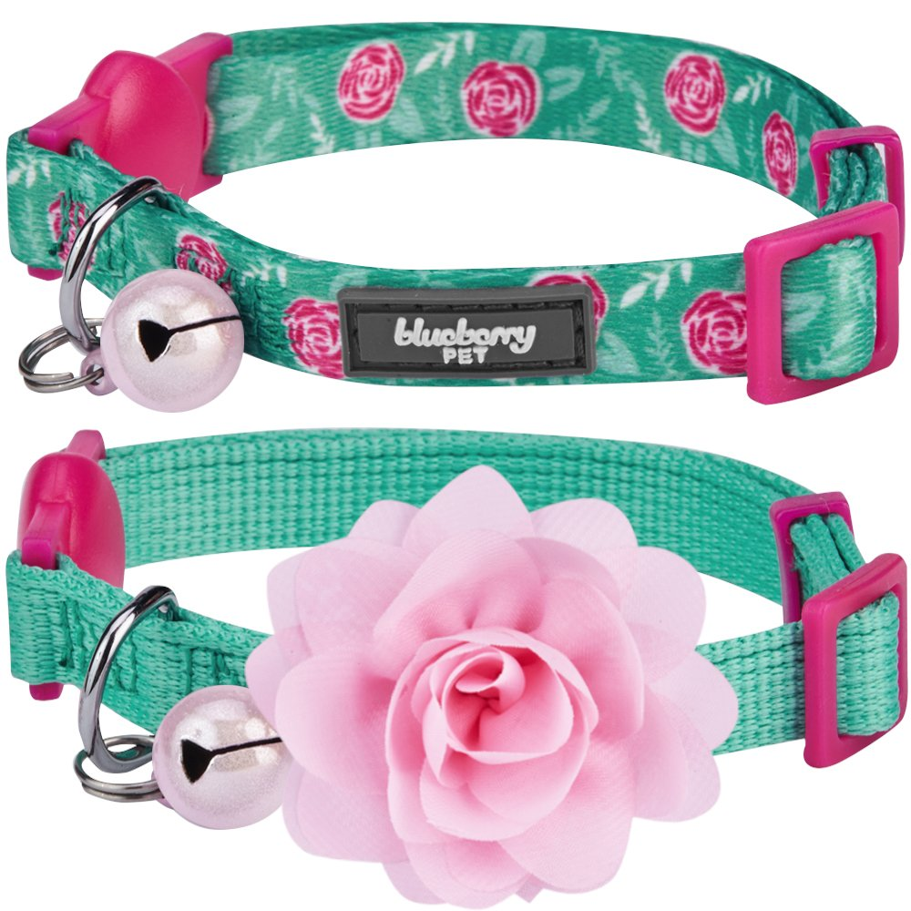 Blueberry Pet Multiple Designs Breakaway Cat Collar with Vary Package